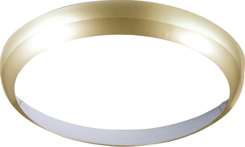 Matt Brass Bezel for 14W BF LED Bulkhead 300mm - Steel City Lighting