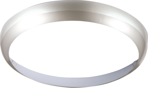 Matt Silver Bezel for LED Bulkhead 14 Watt 300mm - Steel City Lighting