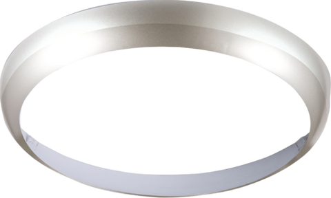 Matt Silver Bezel for LED Bulkhead 14 Watt 300mm