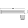 10 Watt Single 620mm Cool White (4100K) LED Batten