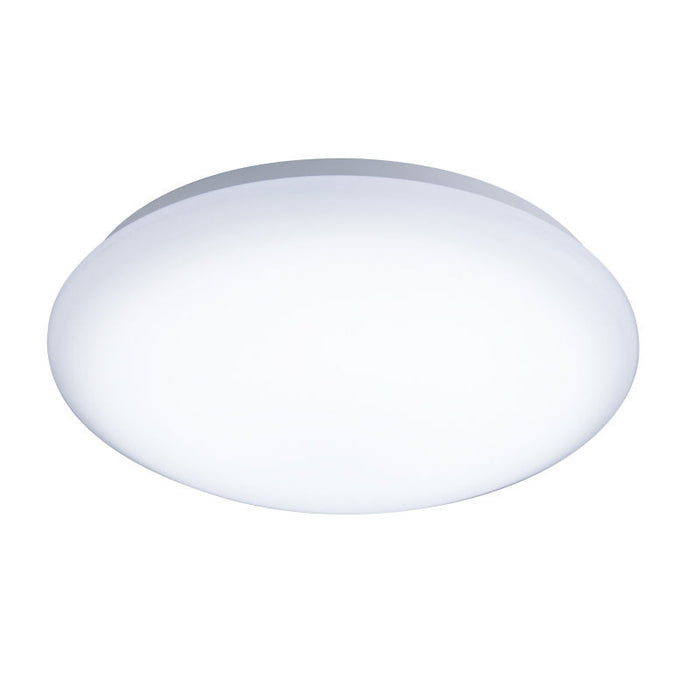 24 Watt 1,800lm IP44 400mm Fusion LED 3hr  Emergency and Microwave Sensor Bulkhead - Steel City Lighting