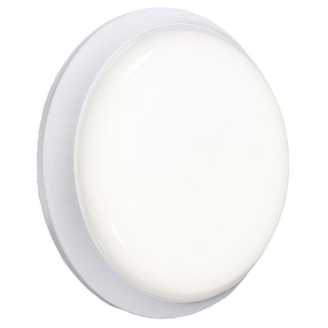 12 Watt IP54 Round Cool White (4000K) LED Emergency Bulkhead