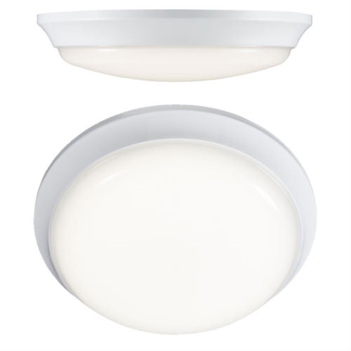 12 Watt IP54 Round Cool White (4000K) LED Bulkhead
