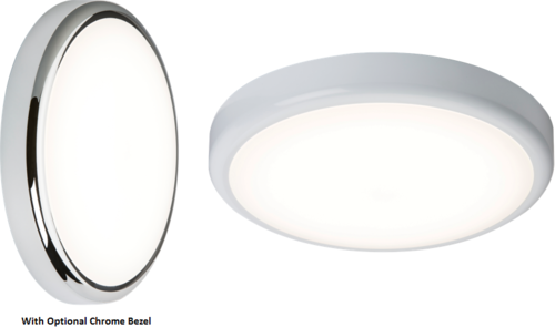 230V IP44 20W Trade LED Flush with Sensor/Dimming Function 4000K - Steel City Lighting