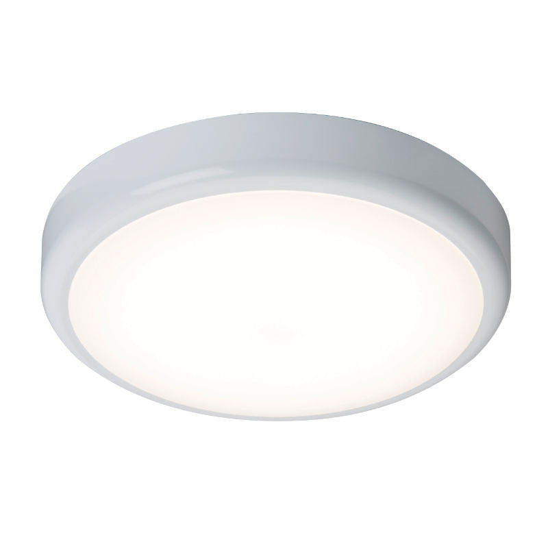 IP44 20 Watt 6000K LED Flush Bulkhead with Microwave Sensor