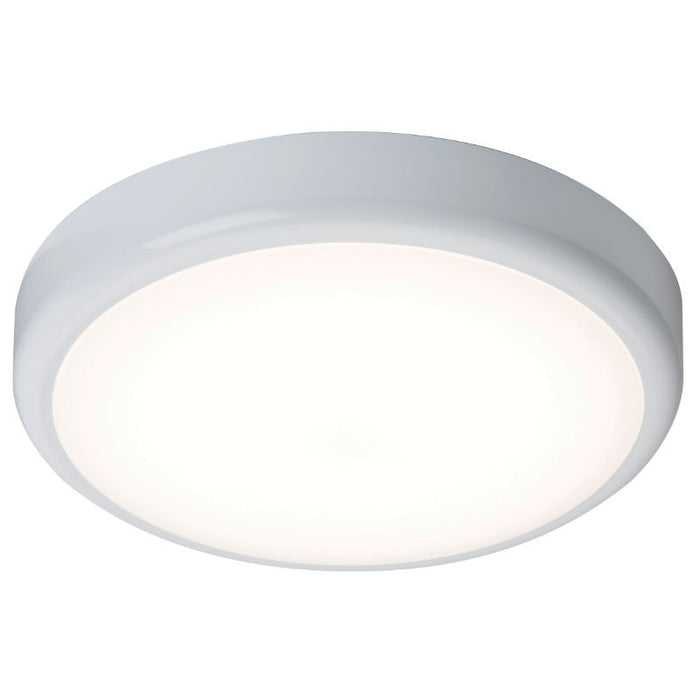 IP44 20 Watt 4000K LED Flush Bulkhead with Microwave Sensor - Steel City Lighting