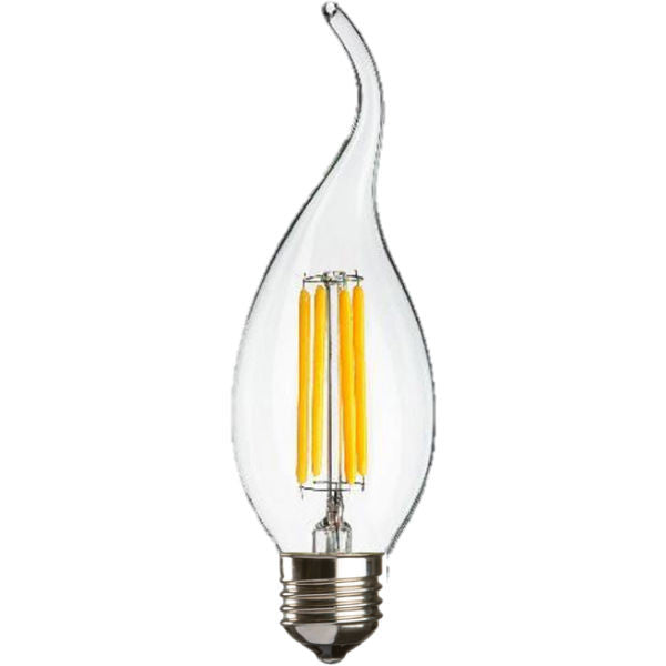 4 Watt LED Warm White Clear E27 Flame Tip Candle Lamp