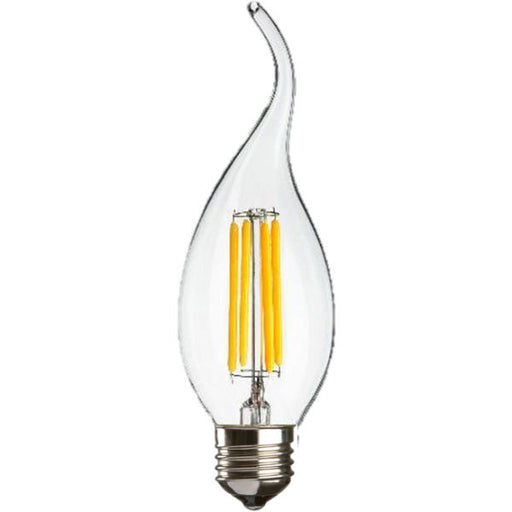 4 Watt LED Warm White Clear E27 Flame Tip Candle Lamp - Steel City Lighting