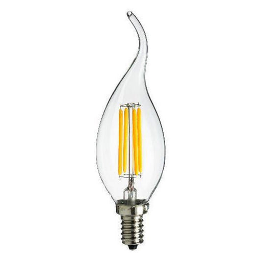 4 Watt LED Warm White Clear E14 Flame Tip Candle Lamp - Steel City Lighting