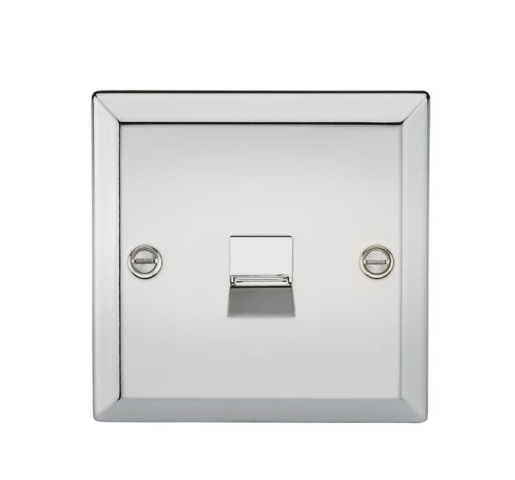 Telephone Master Outlet - Bevelled Edge Polished Chrome
