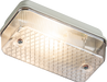 230V IP65 100W max (ES) E27 Bulkhead with Clear Prismatic Diffuser and Aluminium Base - Steel City Lighting