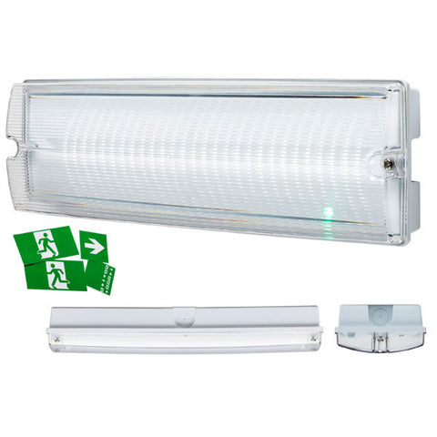 4 Watt IP65 LED Emergency Bulkhead