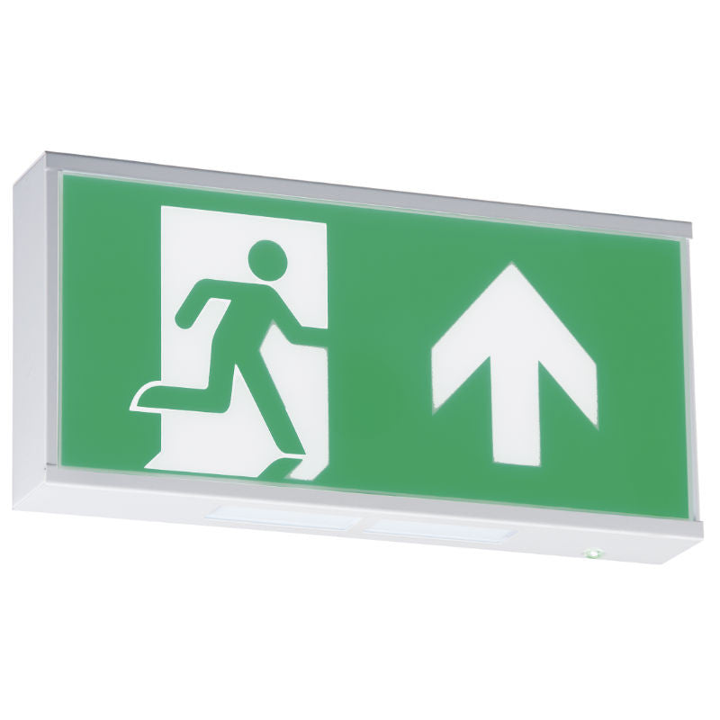 LED Maintained Emergency Exit Sign Up Arrow