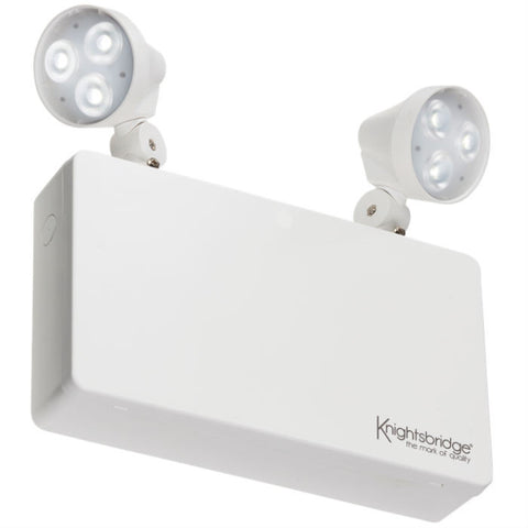 230V IP20 6W LED Twin Spot Emergency Light