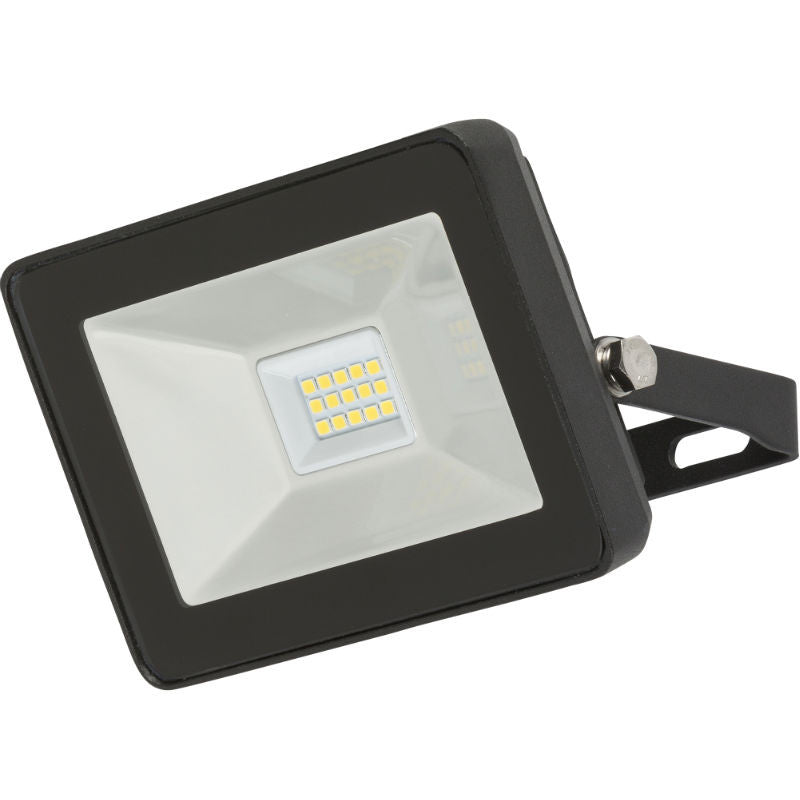 10 Watt IP65 LED Black Die-Cast Aluminium Floodlight