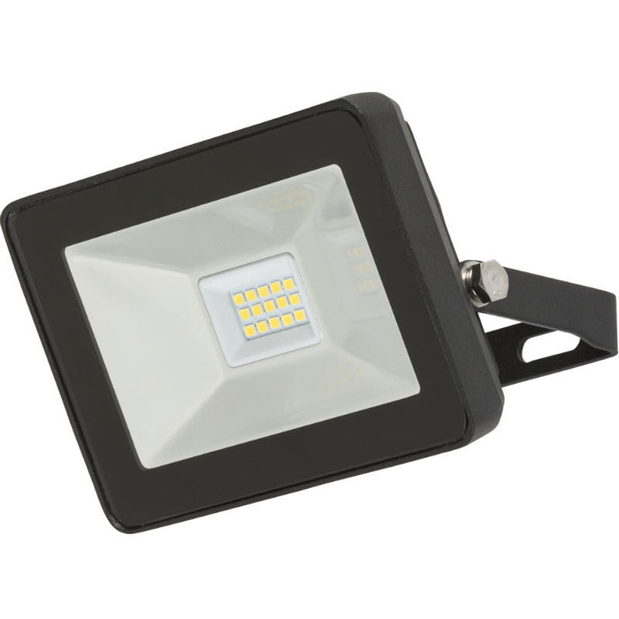 10 Watt IP65 LED Black Die-Cast Aluminium Floodlight - Steel City Lighting