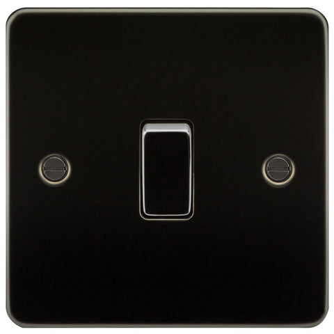 Gunmetal Finish 10A 1G Flat Plate Two-Way Switch