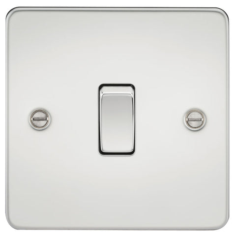 Polished Chrome 10A 1G Flat Plate Two-Way Switch