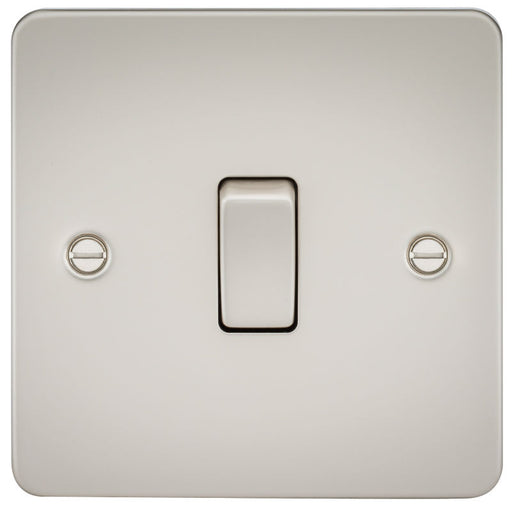 Pearl Finish 10A 1G Flat Plate Two-Way Switch - Steel City Lighting