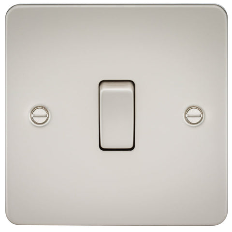 Pearl Finish 10A 1G Flat Plate Two-Way Switch