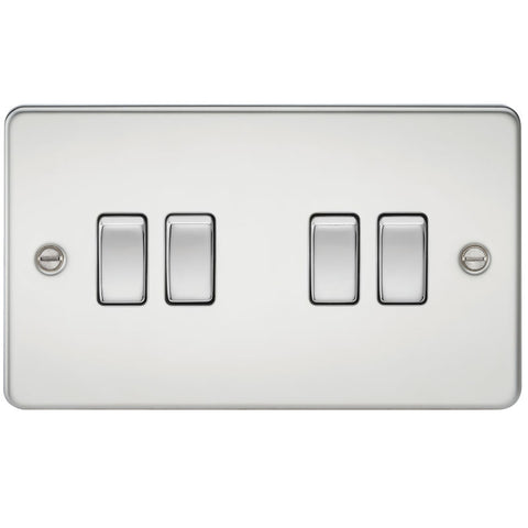 Polished Chrome 10A 4G Flat Plate Two-Way Switch