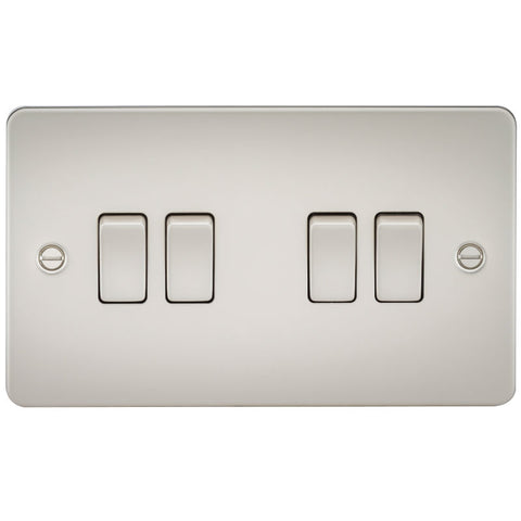 Pearl Finish 10A 4G Flat Plate Two-Way Switch