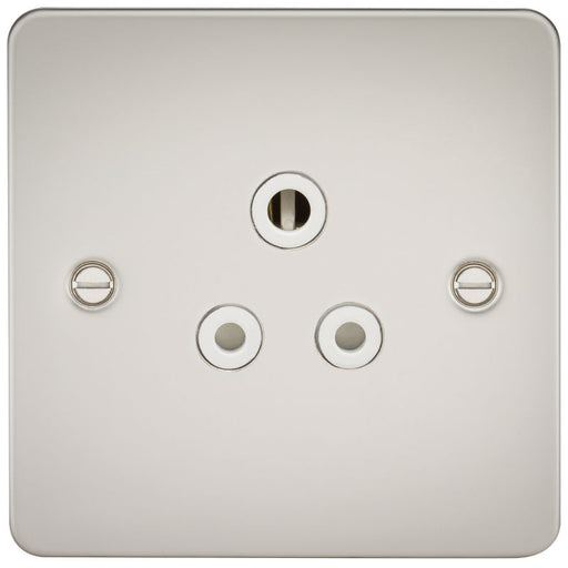 Pearl Finish 5A 1G Flat Plate Round Pin Socket - Steel City Lighting