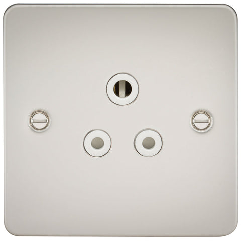Pearl Finish 5A 1G Flat Plate Round Pin Socket