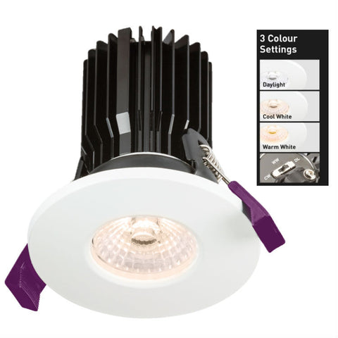 8 Watt 230V IP65 LED Fire Rated Colour Temp Adjustable Downlight