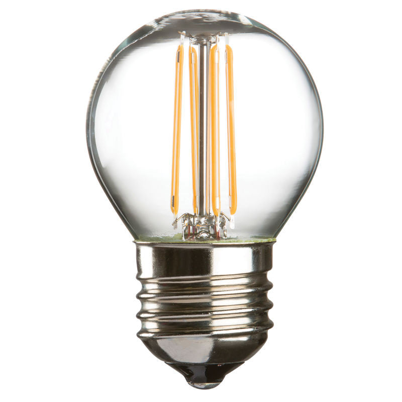 4 Watt 45mm 3000K LED Golf Ball Lamp - Edison Screw Cap (E27), Clear Finish