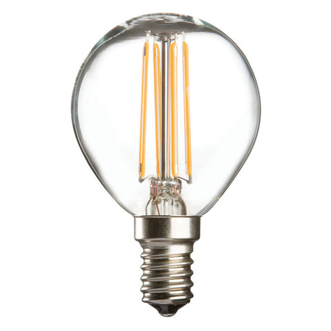 4 Watt 45mm 3000K LED Golf Ball Lamp - Small Edison Screw Cap (E14), Clear Finish