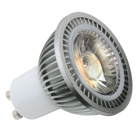 5 Watt Dimmable Warm White (3000K) COB LED GU10 Lamp