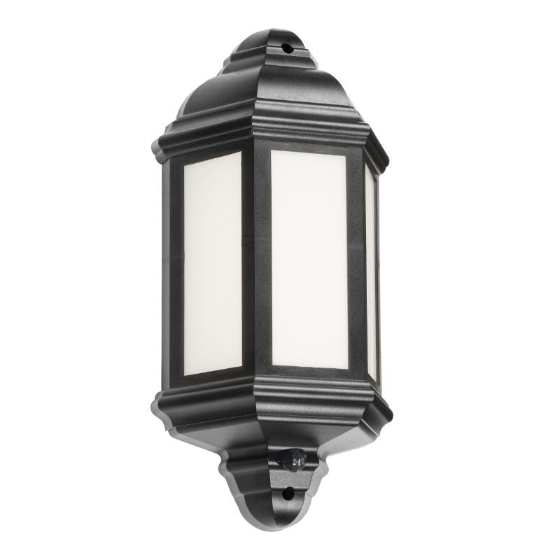 8 Watt IP54 LED Half Wall Lantern with PIR Motion Sensor