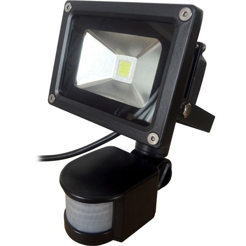ECO 10 Watt 800 lumens 6500K LED Floodlight c/w PIR Sensor
