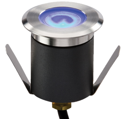 230V IP65 1.5W High Output LED Blue Mini Ground Light comes with cable. Non-Dimmable