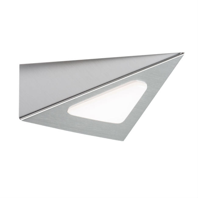 3 Watt LED Triangular Cabinet Light Satin-Chrome