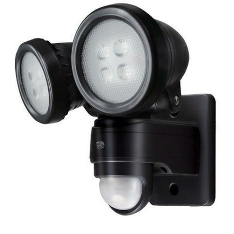 20 Watt 1,110lm LED PIR IP44 Twin Spot Security Light