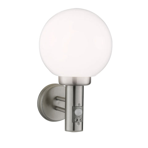 Stainless Steel IP44 PIR Wall Globe