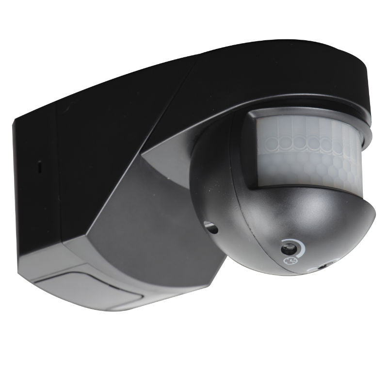 IP55 200° Black Professional Outdoor PIR Motion Sensor