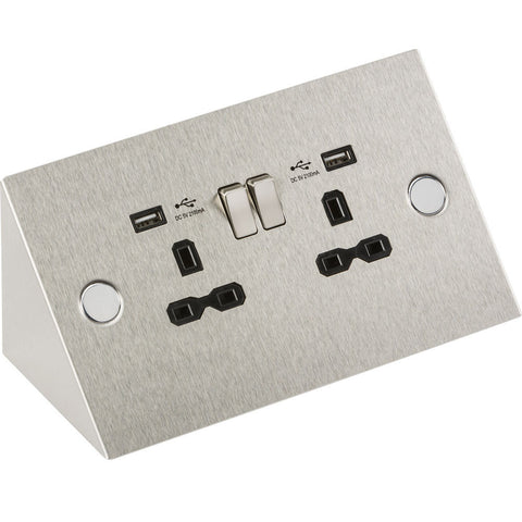 13 Amp 2G Mounting Socket With USB Charger Ports