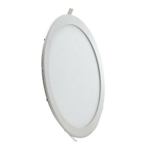 20 Watt 240mm Circular LED Panel with White Trim - Steel City Lighting
