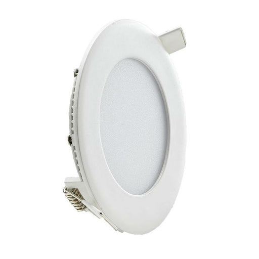 6 Watt 120mm Circular LED Panel with White Trim - Steel City Lighting