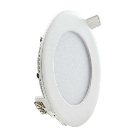 6 Watt 120mm Circular LED Panel with White Trim