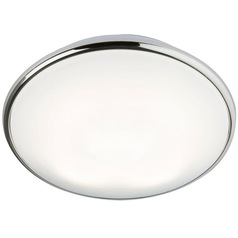 28 Watt 2D Round Luminaire, Chrome Trim with Opal Diffuser