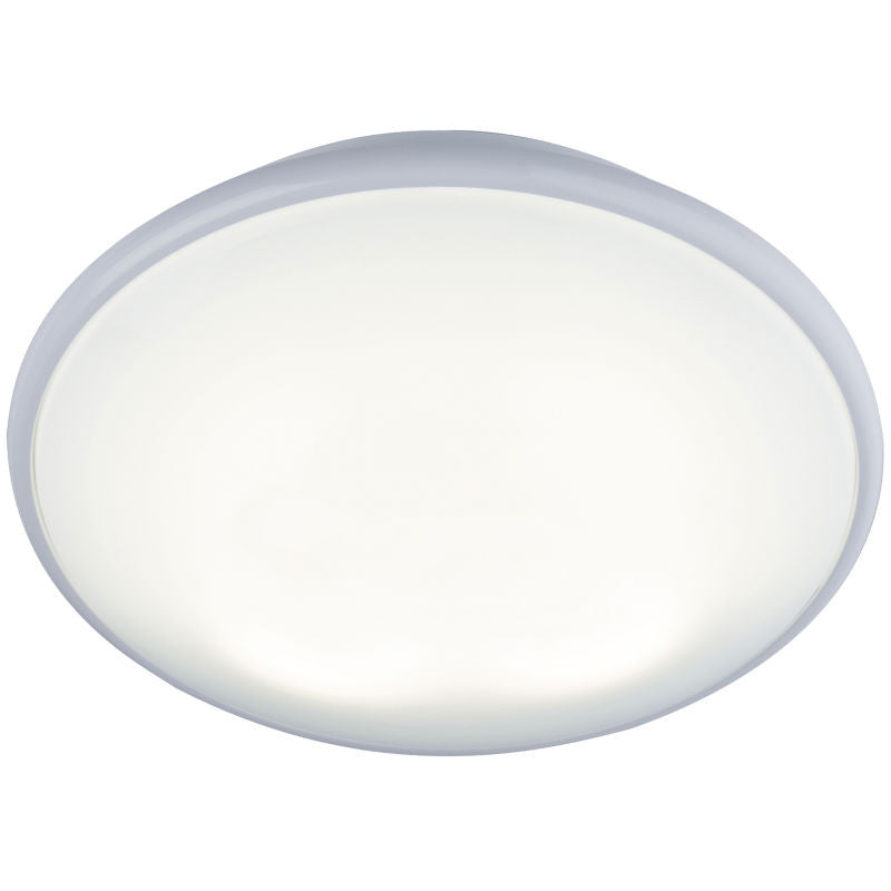 28 Watt 2D Round Luminaire, White Trim with Opal Diffuser