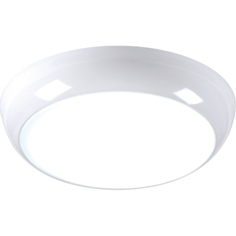 Polo 14 Watt LED IP54 Circular Luminaire - White Trim, Opal Diffuser