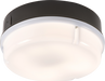 IP65 28W HF Round Bulkhead with Opal Diffuser and Black Base - Steel City Lighting