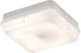 IP65 28W HF Square Bulkhead with Opal Diffuser and White Base - Steel City Lighting