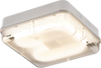 IP65 28W HF Square Emergency Bulkhead with Prismatic Diffuser and White Base - Steel City Lighting