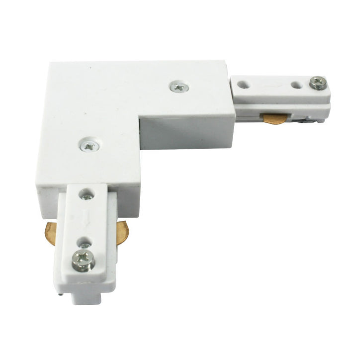 230V Single Circuit Right Angle Track Connector - Steel City Lighting